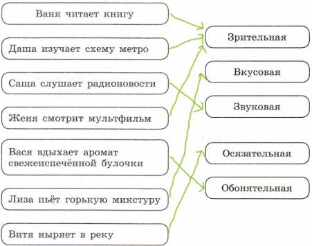 Ответ - Схема вид информации в следующих ситуациях